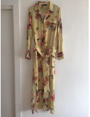 Twin-Set Twin Set Yellow Silk Dress for Women