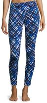 Cosabella Painted Plaid Banded Leggings
