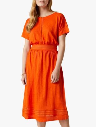 Jigsaw Linen Lace Midi Dress