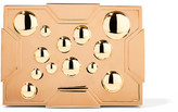 Lee Savage Space Bubbles Gold-Plated Box Clutch