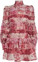 Zimmermann Wavelength Striped Silk-Linen Dress