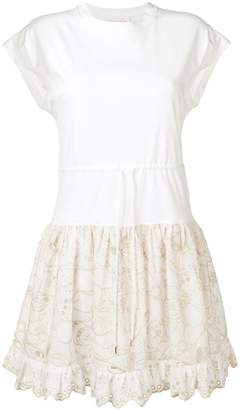 See by Chloe embroidered T-shirt dress