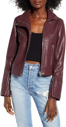 Blank NYC BLANKNYC The Essentials Faux Leather Moto Jacket