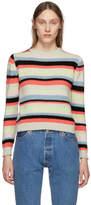The Elder Statesman Multicolor Cashmere Simple Striped Sweater