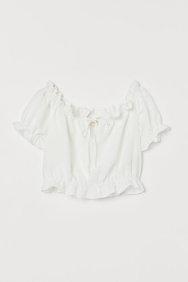 H&M Short flounced blouse