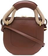 Marni Bonnie leather and rope handle handbag