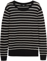 Line Spencer striped modal and cashmere-blend sweater