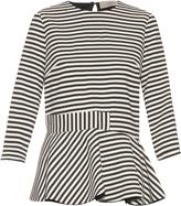 Preen by Thornton Bregazzi Conix striped crepe top
