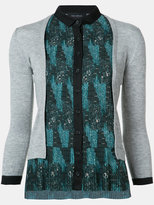 Yigal Azrouel tribal print pleated cardigan