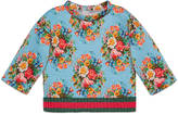 Gucci Baby floral print cotton sweatshirt