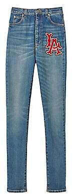 Gucci Women's LA Angels Skinny Stretch Denim Jeans