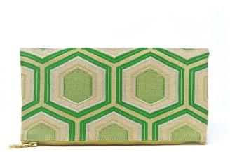 Friends That Rhyme Evergreen - Handmade Foldover Clutch Purse