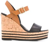 Hogan cork wedge sandals