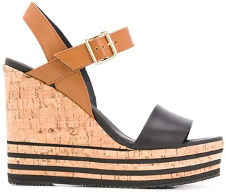 Hogan Cork Wedge Sandals