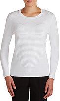 Allison Daley Crew Neck Long Sleeve Pullover
