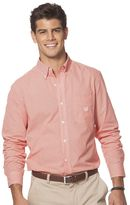 Chaps Big & Tall Classic Mini Gingham Button-Down Shirt