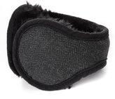 Siggi Wool Fleece Ear Warmer Men Women Wrap Around Earmuffs Winter Fur Black