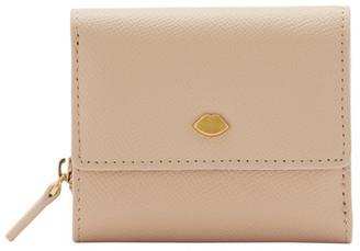 Lulu Guinness Almond Jodie Tri-Fold Wallet