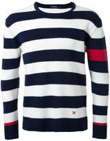 GUILD PRIME round neck striped jumper - men - Lambs Wool - 1