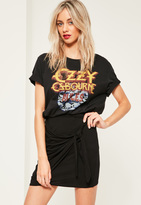 Missguided Petite Exclusive Black Jersey Tie Side Mini Skirt