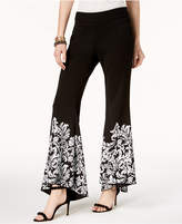 INC International Concepts Printed Flare-Leg Pants, Created for Macy's
