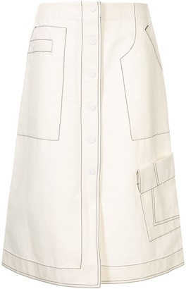 3.1 Phillip Lim High Waisted Twill Skirt