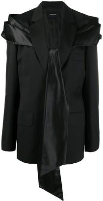 Simone Rocha Satin-Tie Blazer