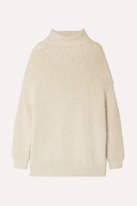 Mara Hoffman Evren Oversized Alpaca And Organic Cotton-blend Turtleneck Sweater - Cream