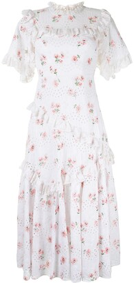 Needle & Thread Floral Broderie Anglaise Dress