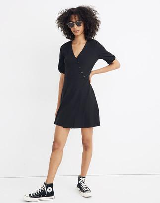 Madewell Cross-Front Button Dress