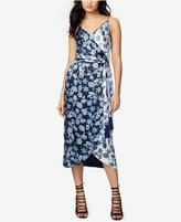 Rachel Roy Floral-Print Wrap Slip Midi Dress