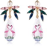 Anton Heunis Pandora's Box Flamingo Earrings