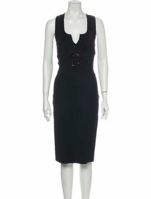 Gucci 2008 Midi Length Dress Black