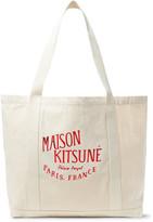 Maison Kitsuné - Palais Royal Printed Canvas Tote Bag