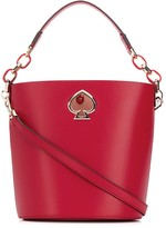 Kate Spade logo plaque bucket bag