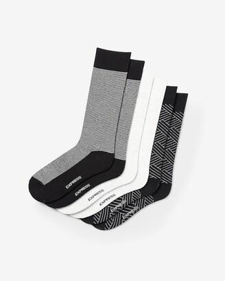 Express 3 Pack Geo Print Dress Socks