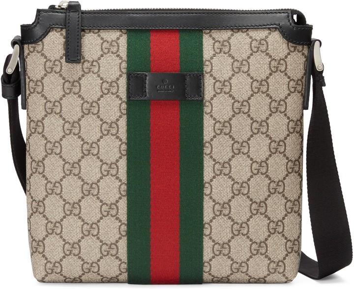Gucci Web GG Supreme flat messenger