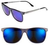 Carrera Men's Eyewear 57Mm Retro Sunglasses - Transparent Blue