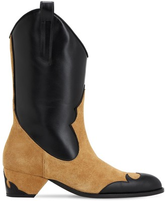 Atelier Manu 45MM SUEDE & LEATHER COWBOY BOOTS