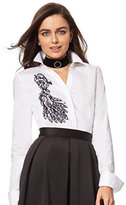 New York & Co. 7th Avenue Design Studio - Beaded & Lace-Accent Madison Stretch Shirt
