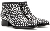 Alexander Wang Kori Embellished Leather Ankle Boots