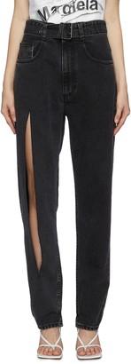 Maison Margiela Slit leg belted bleach jeans