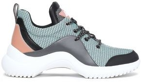 Sam Edelman Paneled Printed Mesh And Rubber Sneakers