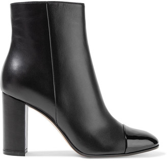 Gianvito Rossi Patent And Smooth Leather Ankle Boots