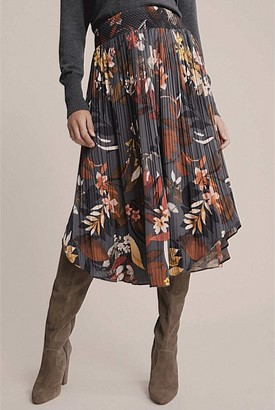Witchery Print Pleat Skirt