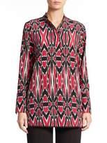 Natori Printed Silk Tunic