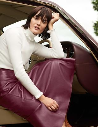 Boden Catriona Leather Skirt
