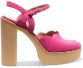 RED Valentino Suede Platform Sandals