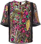3.1 Phillip Lim floral print appliqué top - women - Silk/Spandex/Elastane/Viscose - 4
