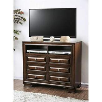Red Barrel Studio Beckles Solid Wood TV Stand for TVs up to 32 inches Red Barrel Studio Color: Brown Cherry